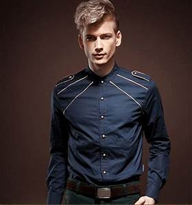 Cool Dark Blue Royalty Style Slim Fit Button Down Shirt