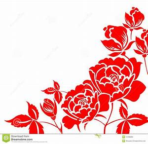 Chinese Paper-cut Of Peony Flower Stock Illustration ...