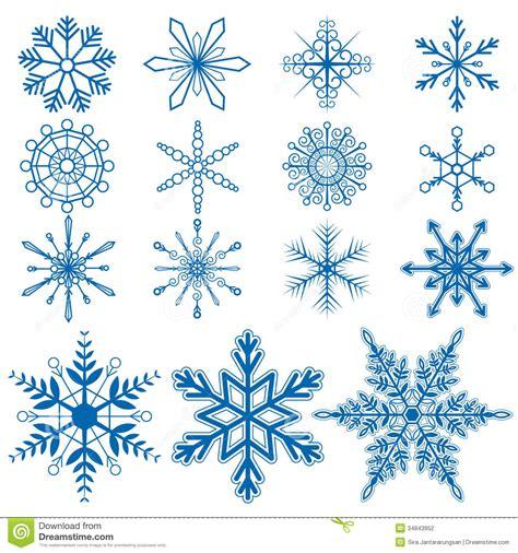 Cetakan Salju Frozen Stencil snowflake set1 vectors stock vector image of icon