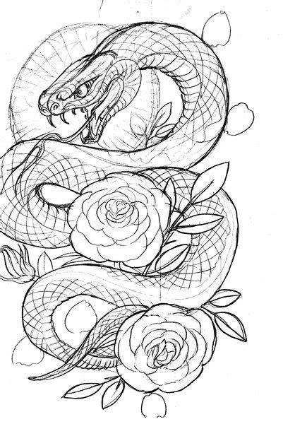 (print image) | Snake tattoo design, Japanese snake tattoo