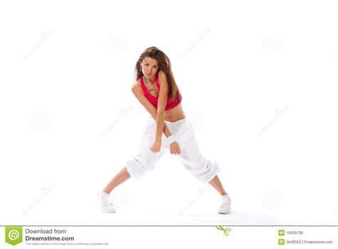 moderne amincissez la danseuse de femme de type de danse images libres de droits image 19359729