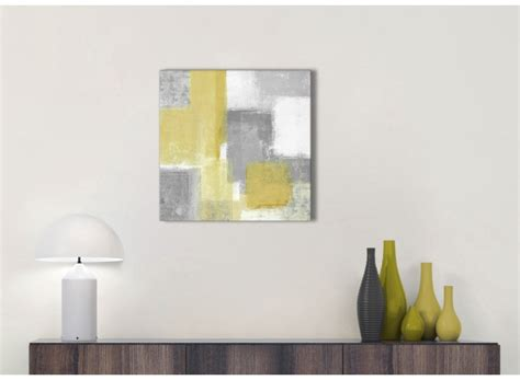 mustard yellow grey bathroom canvas pictures accessories