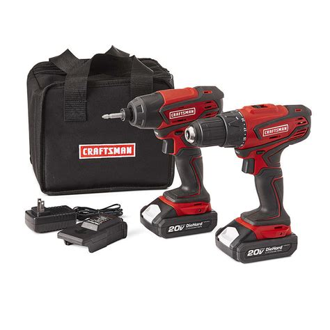 craftsman  max cordless drill  impact driver