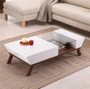 hokku designs braxton coffee table white modern With wayfair modern coffee table