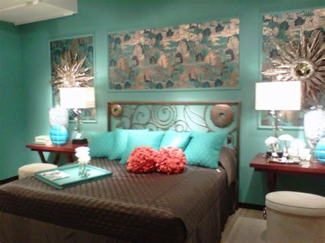 gray  turquoise bedroom contemporary  master