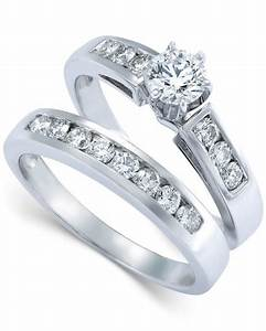 macy39s diamond engagement ring bridal set in 14k white With macy s wedding rings sets