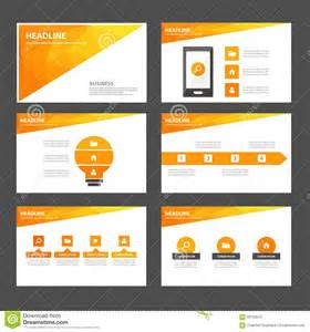 presentation design abstract orange yellow infographic element and icon presentation templates flat design set for