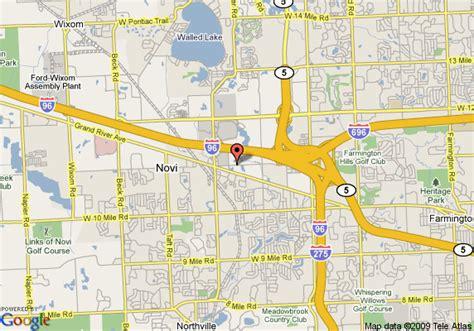 map of towneplace suites detroit novi novi