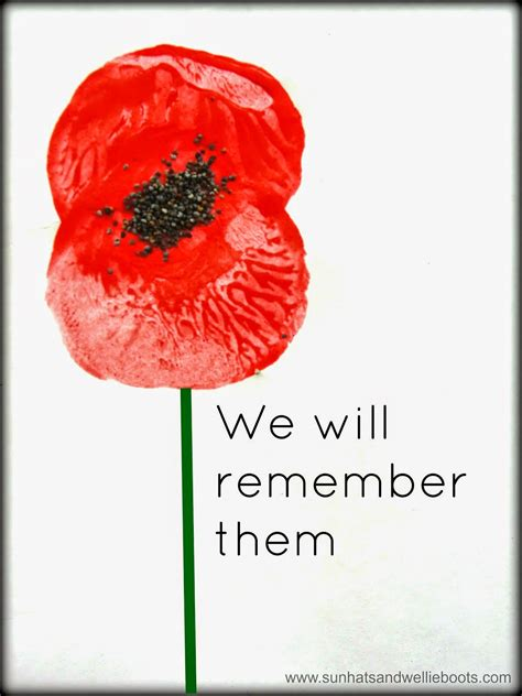 Sun Hats & Wellie Boots Remembrance Poppy Prints