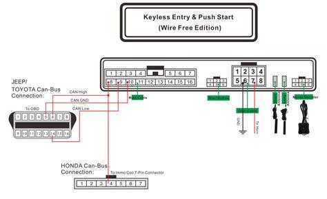 china wire free passive keyless entry smart key push button remote starter pke rfid keyless go