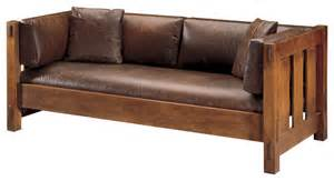 Stickley Mission Leather Sofa by Stickley Settle 89 208