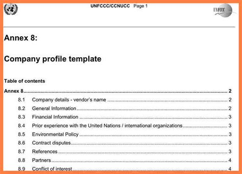 5+ Company Profile Sample In Word