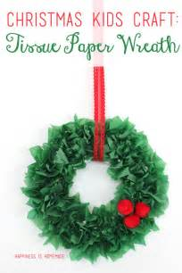 kids christmas craft tissue paper wreath happiness is homemade