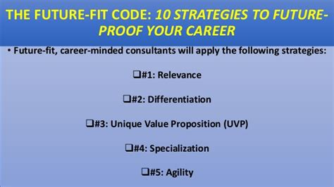Future Fit Code 10 Strategies To Futureproof Your Career