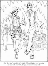 Coloring Pages Charleston Roaring Twenties Dover Publications Dance Fashions Adult 1920s Adults Books Colouring Sheets Cool 20s Doverpublications Welcome Printable sketch template