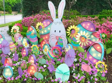 Easter Egg Garden Decoration by Outdoor Easter Decorations Turtle Creek