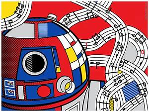 Star Wars Pop Art Abstract R2D2 by Bergie81
