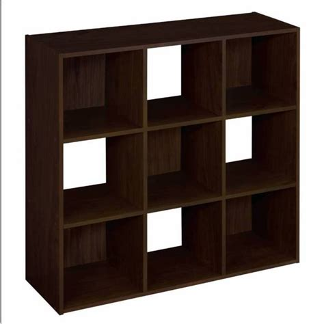 Stackable Bookcase by Shop Closetmaid 9 Espresso Laminate Storage Cubes At Lowes Com