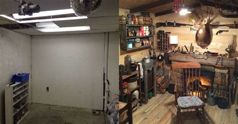 guy built  rustic cabin man cave   twistedsifter