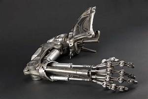 Screen-used hero T-800 Terminator endo arm and shoulder ...