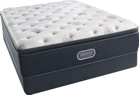 simmons beautyrest pillow top mattress king beautyrest recharge silver offshore mist pillow top plush