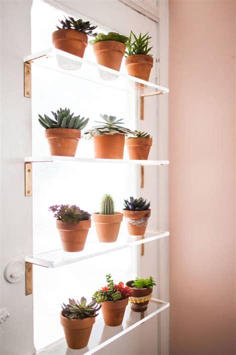 Plants On Windows by Plant Shelves Window Wall Shelves In 2019