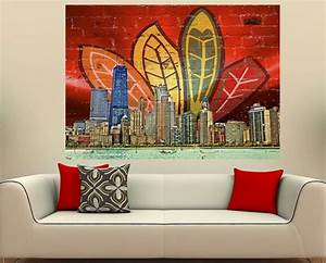 chicago feather skyline click on link to get your39s http With chicago wall art