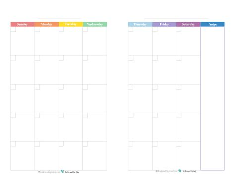 Two Page Monthly Calendar Template Costumepartyrun