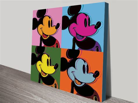 buy mickey mouse pop art ll retro canvas wall art tapping