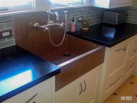 Apron Front Sink With Backsplash : Copper Sinks With Integral Back Splashes By Rachiele