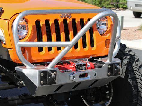 jeep bumper grill jk stinger grill guard front bumper aluminum genright