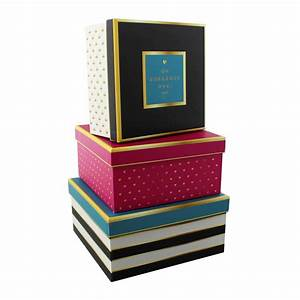 Decorative storage boxes set of three office and home for Decorative office storage