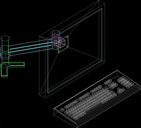 desktop pc dwg block  autocad designs cad