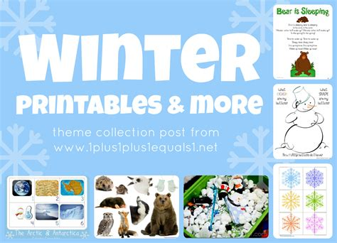 winter theme printables amp more 1 1 1 1 410 | Winter Theme Collection