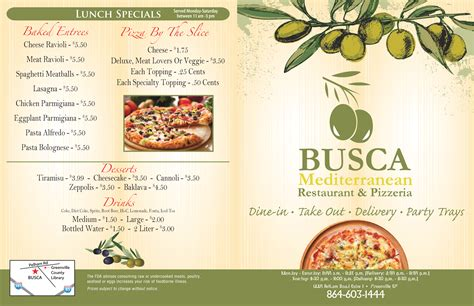mediterranean cuisine menu busca mediterranean restaurant pizzeria menu