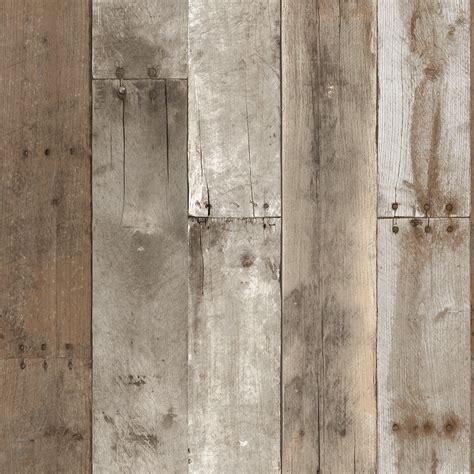 Tapete Holzoptik Verwittert by Repurposed Wood Weathered Textured Self Adhesive Wallpaper
