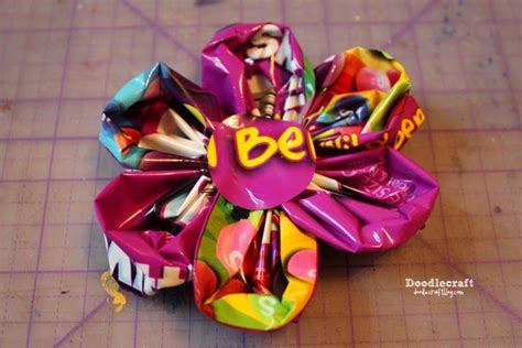 This year we decided it was chocolate! CANDY WRAPPER Skittles Flower Headband! | Candy wrappers, Crafts, Headbands