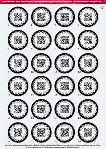 Adventskalender Zahlen Mathe : 24 adventskalender zahlen originell als qr code gerahmt aufkleber etiketten sticker ~ Indierocktalk.com Haus und Dekorationen