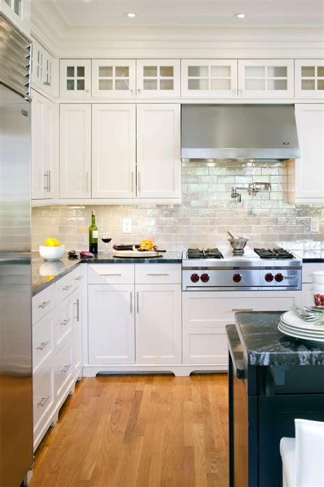 white kitchen cabinets with glass tile backsplash glass subway tile backsplash kitchen with 2210