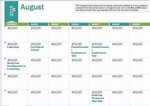 2015 2016 school calendar template formal word templates With academic calendar template 2015 16
