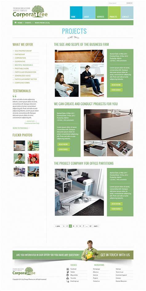 avada portfolio tree column template ot corporate tree free business joomla template