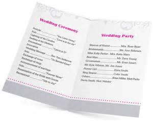 christian wedding ceremony program 5 design ideas for wedding program printing