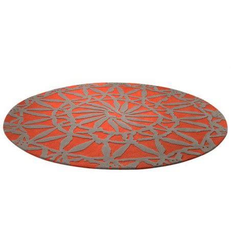 tapis rond de salon rouge esprit home oriental lounge