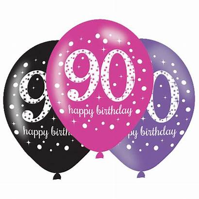 90 90th Birthday Party Balloons Pink Decorations