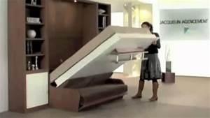 Lit Placard Ikea : lit escamotable couchage quotidien vid o square deco youtube ~ Nature-et-papiers.com Idées de Décoration
