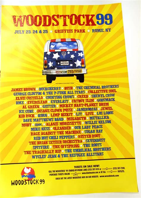 Decorative Garden by Igavel Auctions Five Woodstock 99 Posters N2rrd