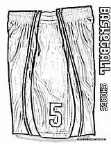 Basketball Coloring Jersey Pages Shorts Drawing Easy Nba Yescoloring Lebron James Boys Shoes Jordan Nike Stop Jokin Tell Players Bouncy sketch template