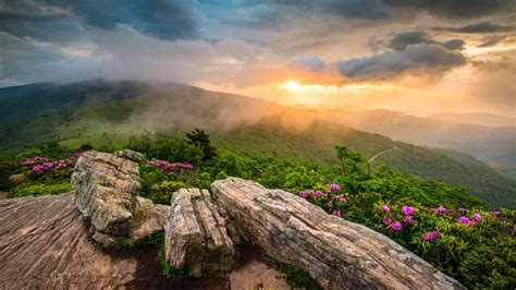 appalachian mountains tennessee sunset landscape
