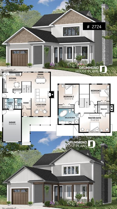 house plan Canova No 2724 (With images) House plans
