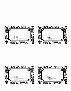 9 best images of printable wedding place card templates With free placecard template